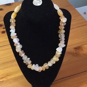 Jewelry - One of a kind handmade multi tone agate necklace.